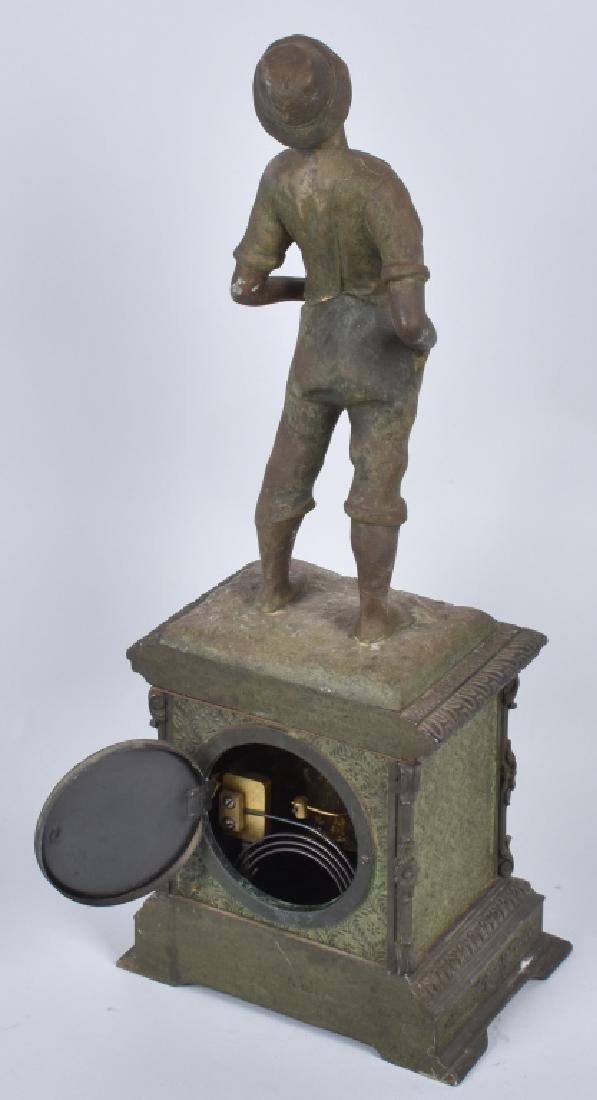 SETH THOMAS WHISTLING BOY CAST METAL CLOCK - 6