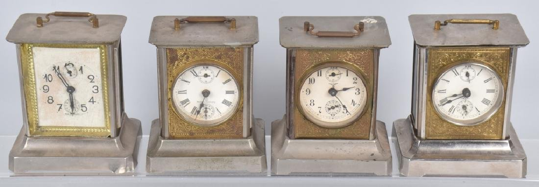 4-GERMAN MUSIC BOX CARRIAGE CLOCKS