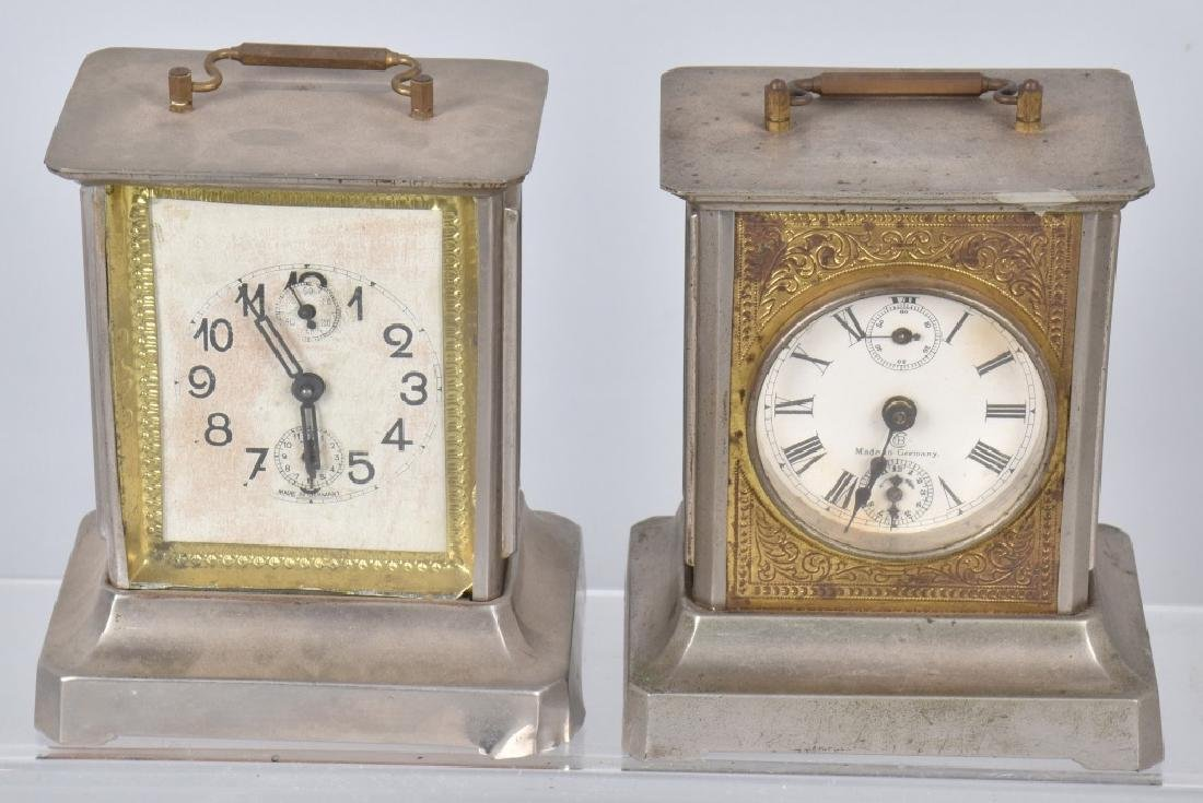 4-GERMAN MUSIC BOX CARRIAGE CLOCKS - 2
