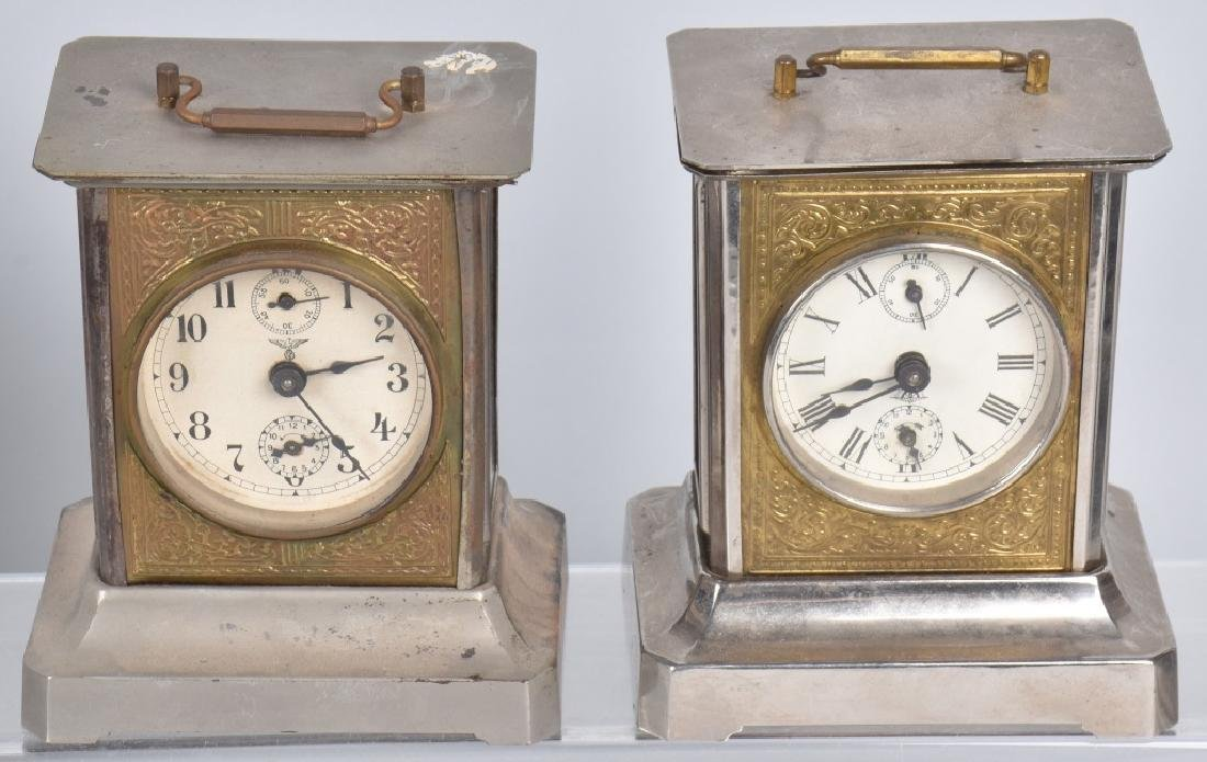 4-GERMAN MUSIC BOX CARRIAGE CLOCKS - 3