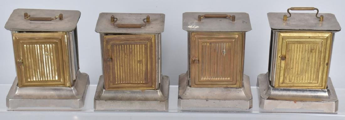 4-GERMAN MUSIC BOX CARRIAGE CLOCKS - 4