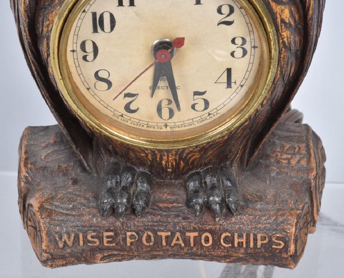 LUX WISE POTATO CHIPS ADVERTISING CLOCK - 3