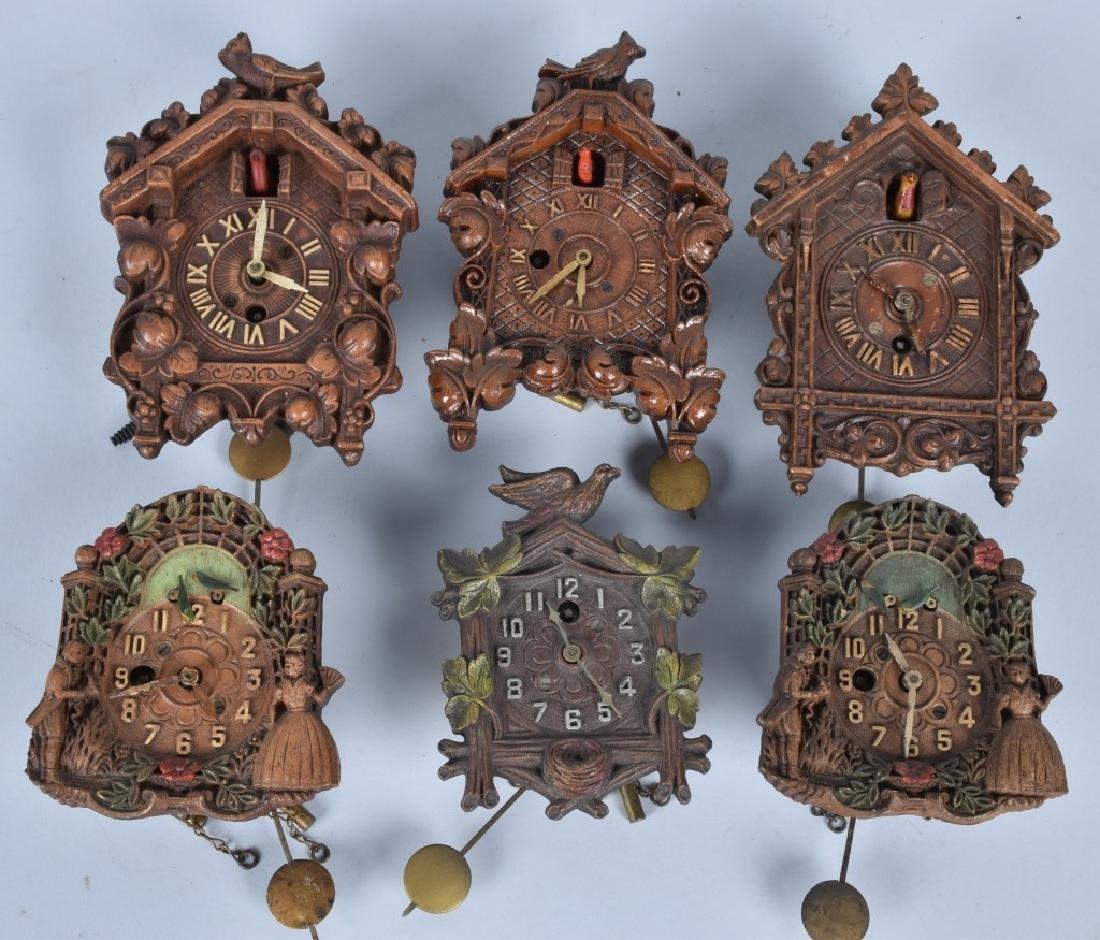 6-VINTAGE LUX and KEEBLER NOVELTY CLOCKS