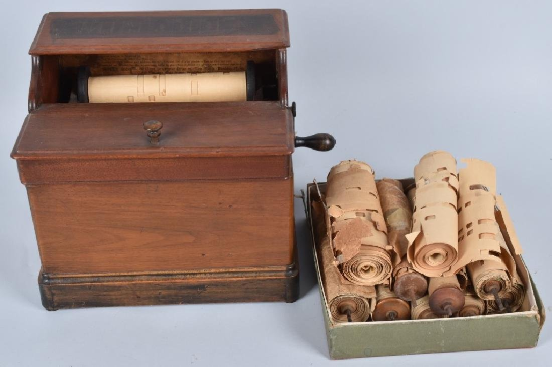 VINTAGE MELODIA PAPER ROLL MUSIC BOX