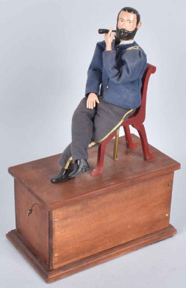 GENERAL ULYSSES S. GRANT CLOCKWORK SMOKER TOY