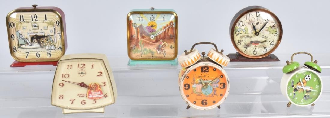6-CHARACTER ALARM CLOCKS, ROY ROGERS & MORE