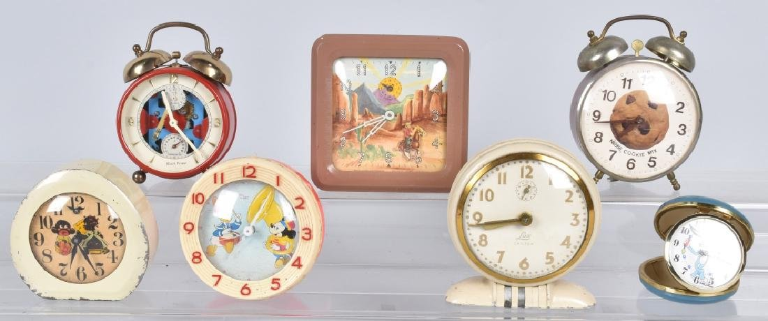 7-CHARACTER ALARM CLOCKS, and MORE