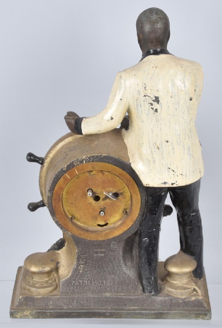 2-PRESIDENT ROOSEVELT CAST METAL FIGURAL CLOCKS - 5