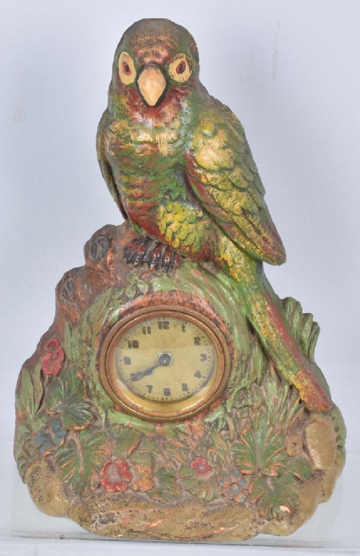 2-DELUXE CO. CLOCKS, PARROT & WINDMILL - 2