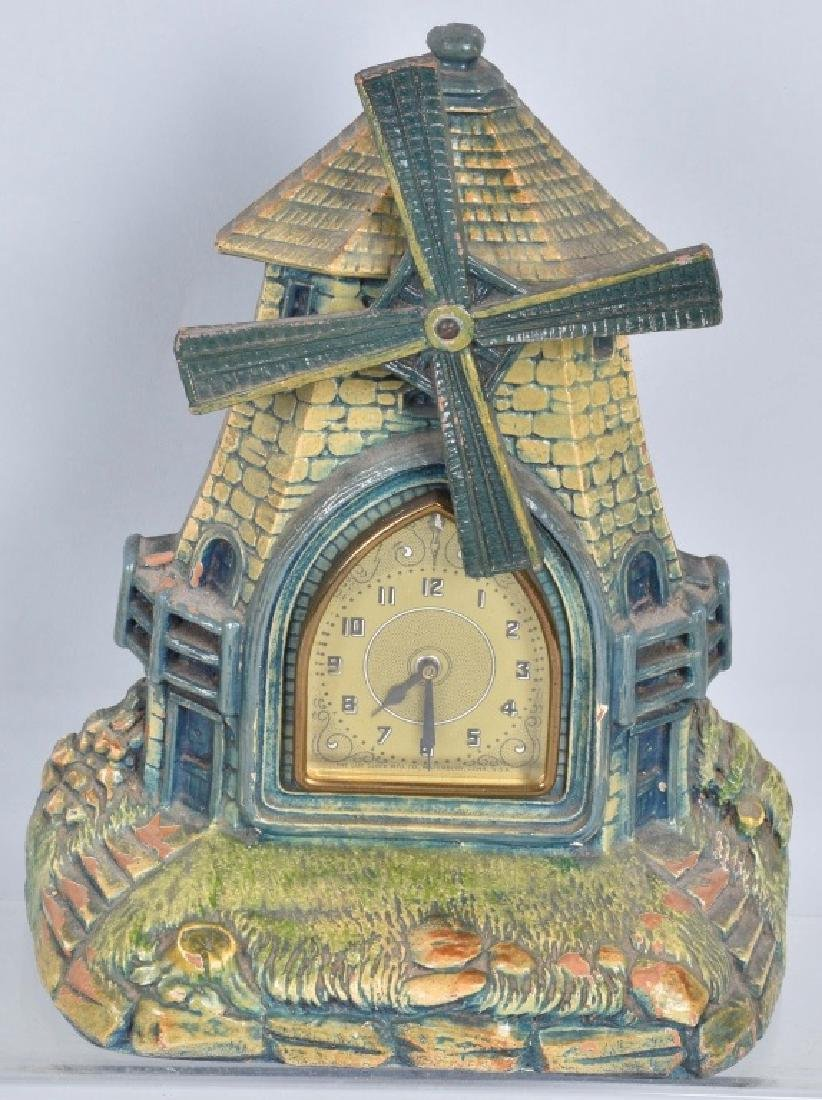 2-DELUXE CO. CLOCKS, PARROT & WINDMILL - 4
