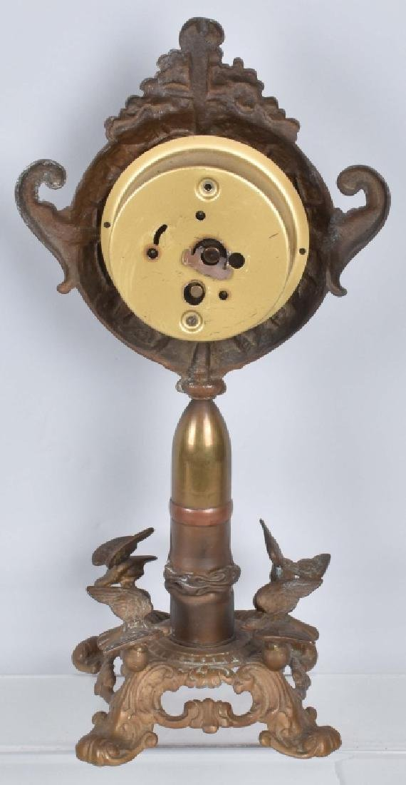 NEW HAVEN CLOCK w/ ARTILLERY SHELL / EAGLES BASE - 5