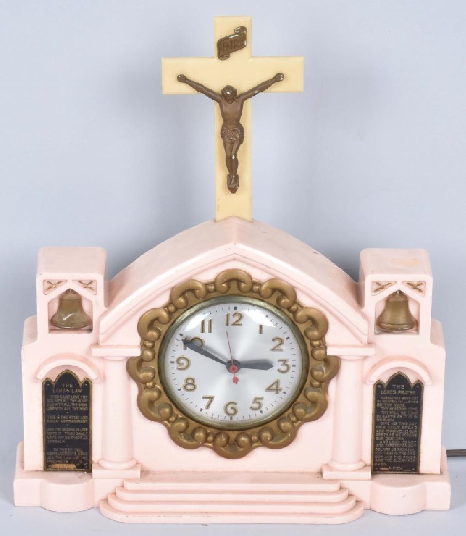 CHRIST MUSIC BOX & MISSION BELLS CLOCK - 5
