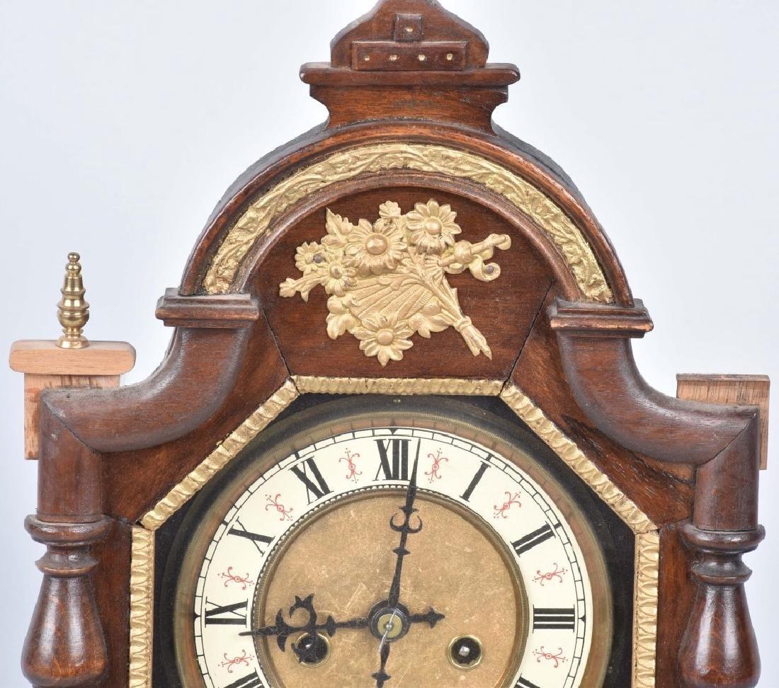GERMAN ORNATE SHELF CLOCK, VINTAGE - 2
