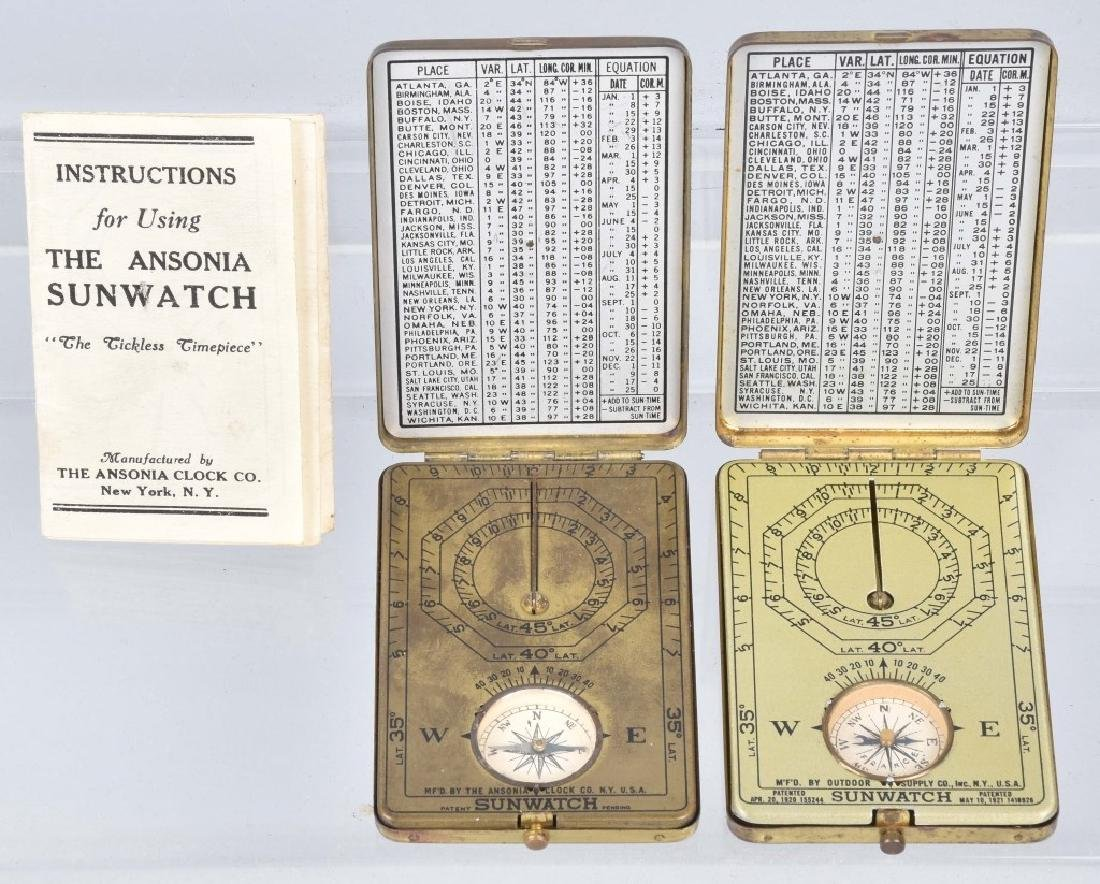 2-ANSONIA SUNWATCHES, VINTAGE