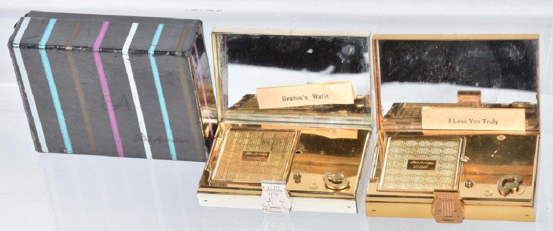 2-VINTAGE MUSICAL COMPACTS, 1 BOXED