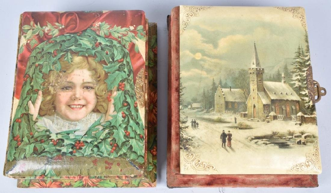 2-VICTORIAN CHRISTMAS MUSICAL PHOTO ALBUMS