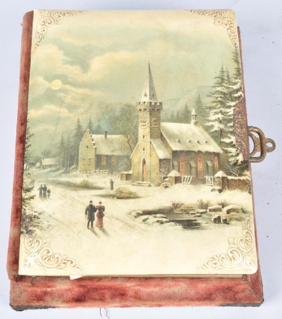 2-VICTORIAN CHRISTMAS MUSICAL PHOTO ALBUMS - 7