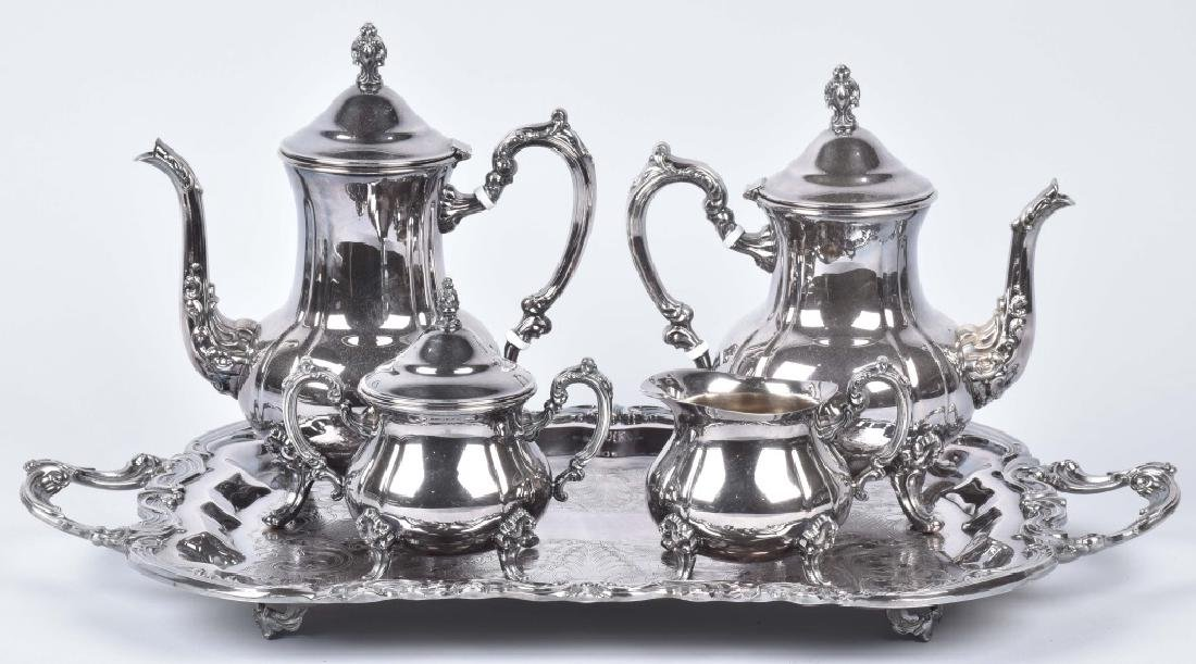 TOWLE 5 PIECE SILVER PLATE TEA / COFFEE SET