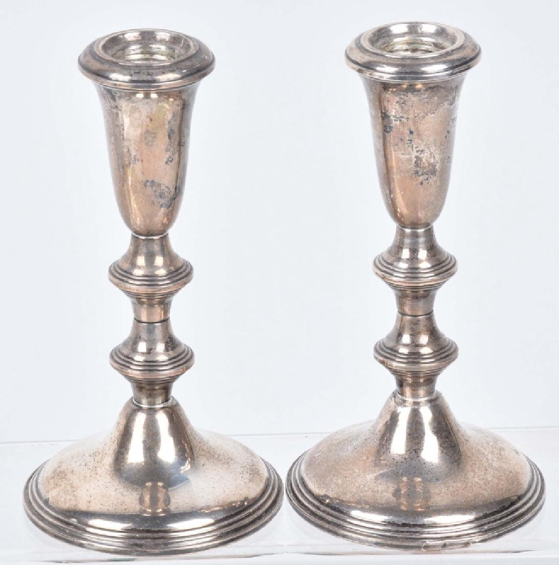 STERLING SILVER CANDLE STICKS and MORE - 2