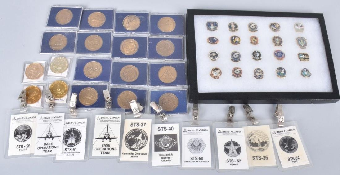 NASA LAUNCH TEAM PINS, MEDALS and MORE
