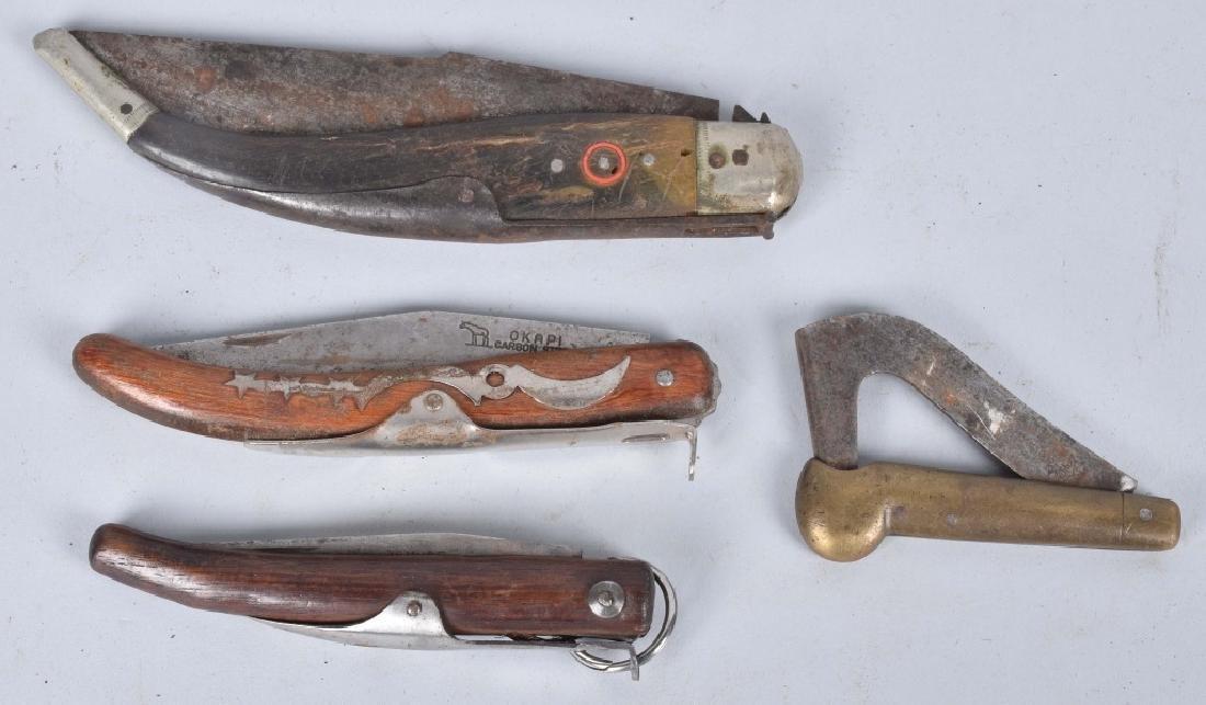 4-VINTAGE KNIVES