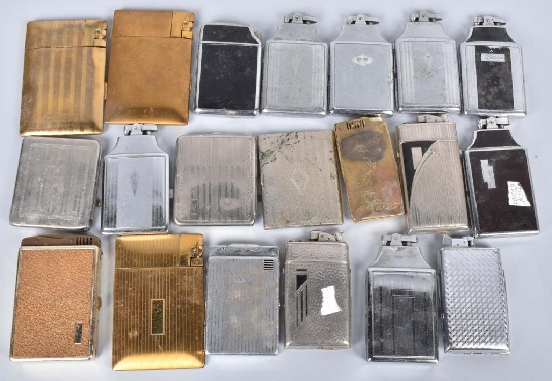 20-VINTAGE CIGARETTE CASES, SOME with LIGHTERS