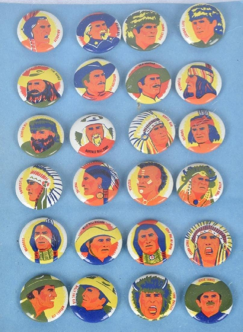 24- 1950s INDIANS & WESTERN HERO PREMIUM PINS