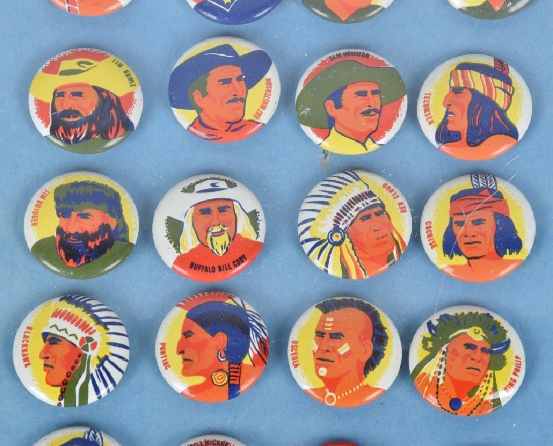 24- 1950s INDIANS & WESTERN HERO PREMIUM PINS - 3
