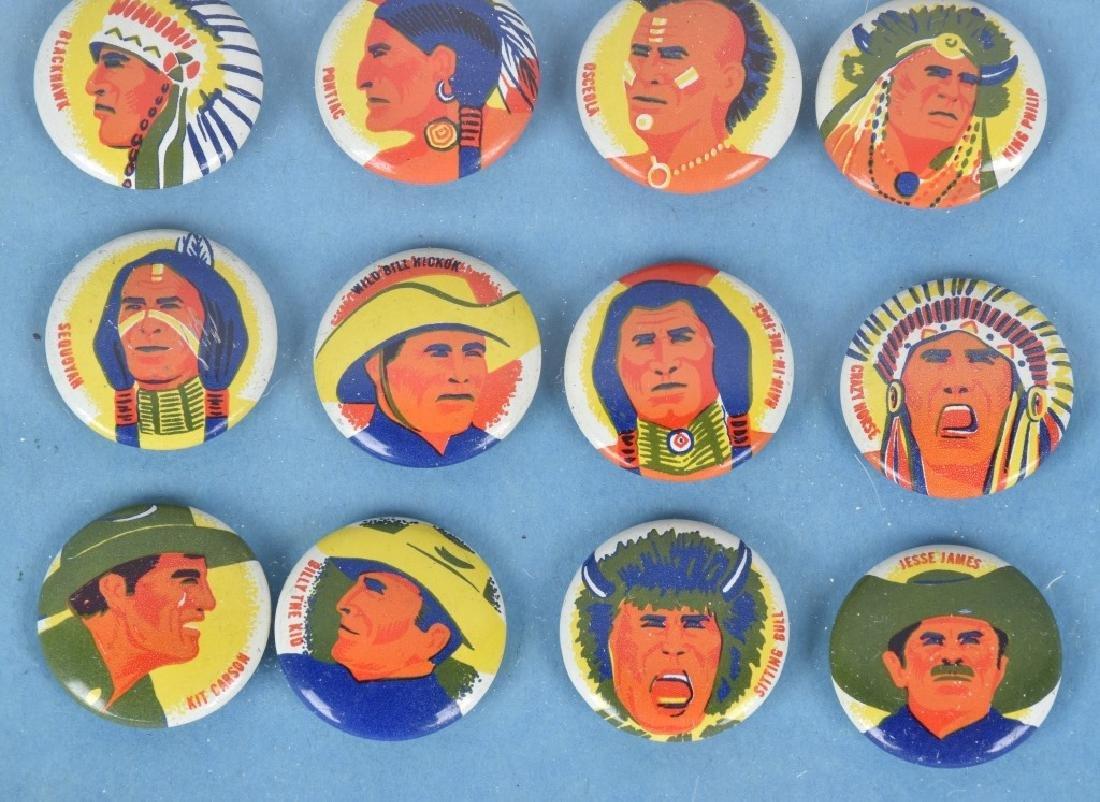 24- 1950s INDIANS & WESTERN HERO PREMIUM PINS - 4