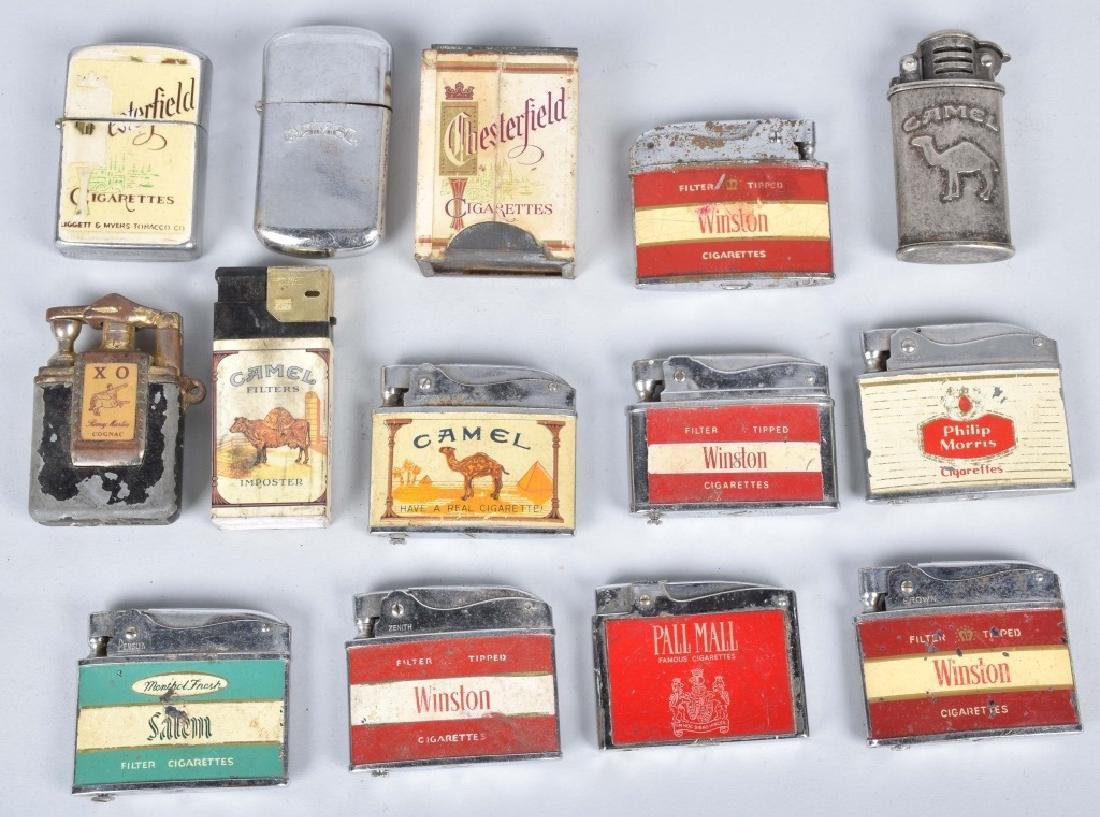 VINTAGE ADVERTISING LIGHTERS, WW1, CASES & MORE - 2