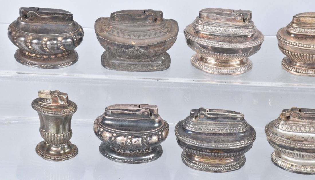 22-TABLE TOP SILVER PLATE LIGHTERS - 2