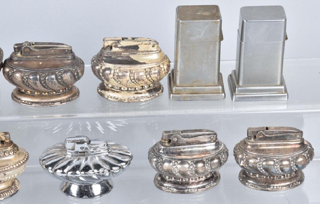 22-TABLE TOP SILVER PLATE LIGHTERS - 3