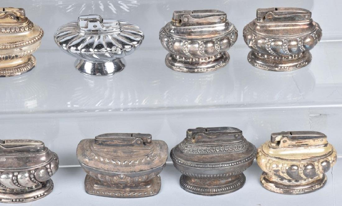 22-TABLE TOP SILVER PLATE LIGHTERS - 4