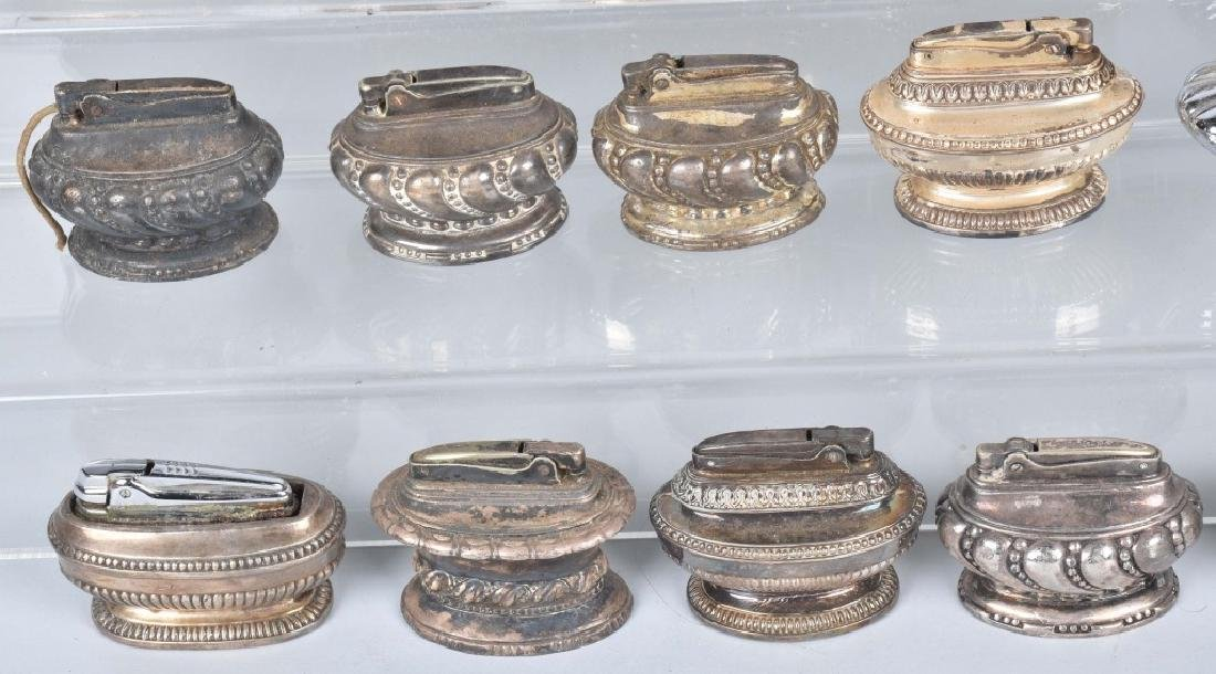 22-TABLE TOP SILVER PLATE LIGHTERS - 5