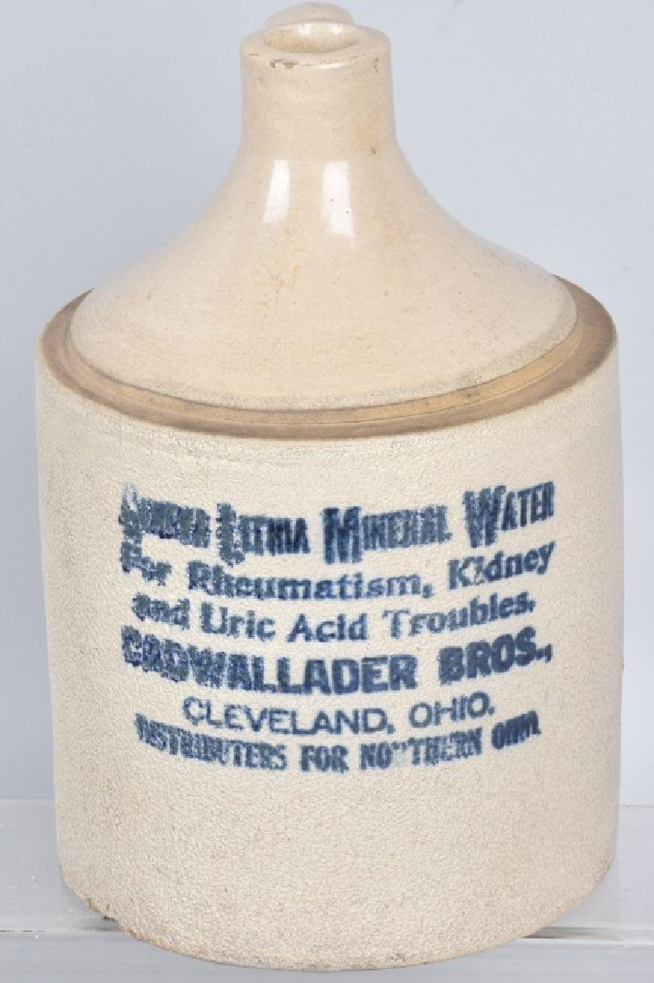 CLEVELAND OHIO STONEWARE ADVERTISING JUG