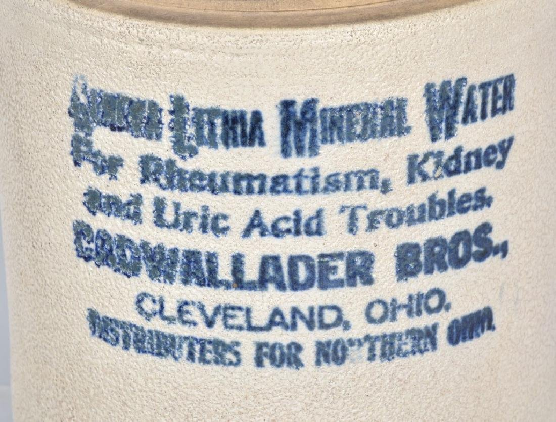 CLEVELAND OHIO STONEWARE ADVERTISING JUG - 2