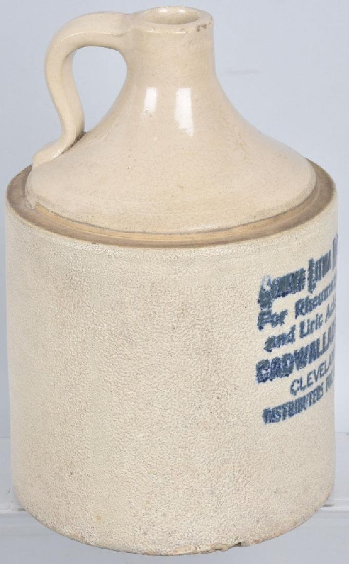 CLEVELAND OHIO STONEWARE ADVERTISING JUG - 4
