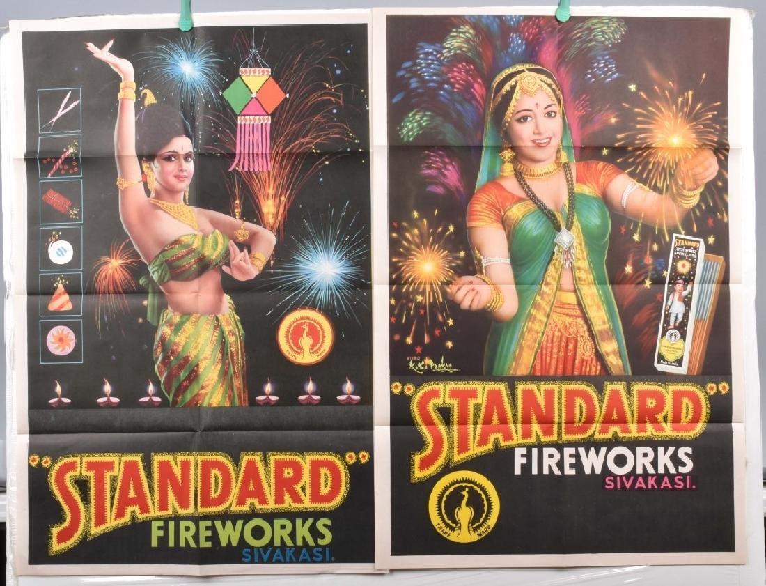 4-STANDARD FIREWORKS COLOR ADVERTISING POSTERS