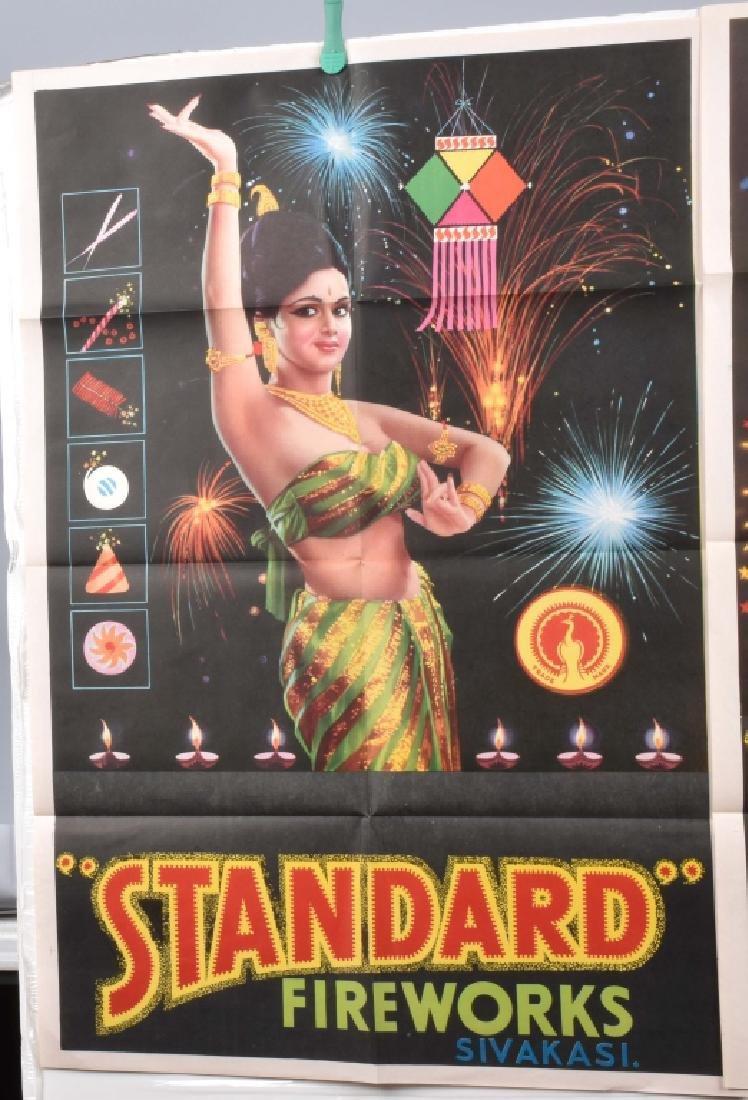 4-STANDARD FIREWORKS COLOR ADVERTISING POSTERS - 2