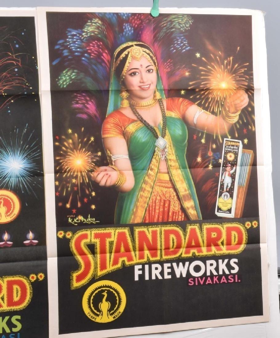 4-STANDARD FIREWORKS COLOR ADVERTISING POSTERS - 3