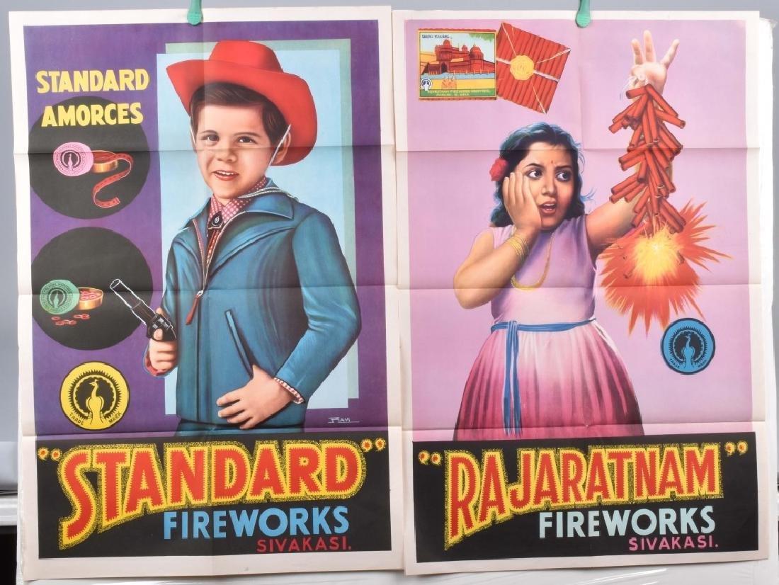 4-STANDARD FIREWORKS COLOR ADVERTISING POSTERS - 4