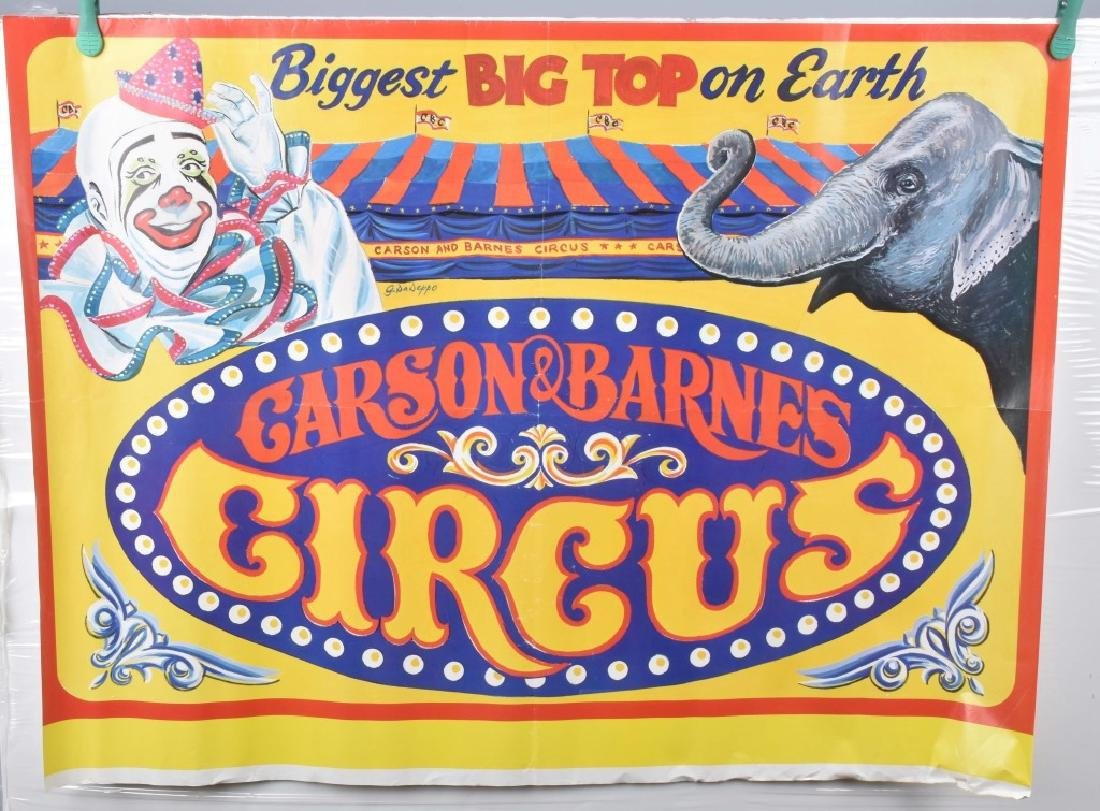 5-VINTAGE CIRCUS ADVERTISING POSTERS