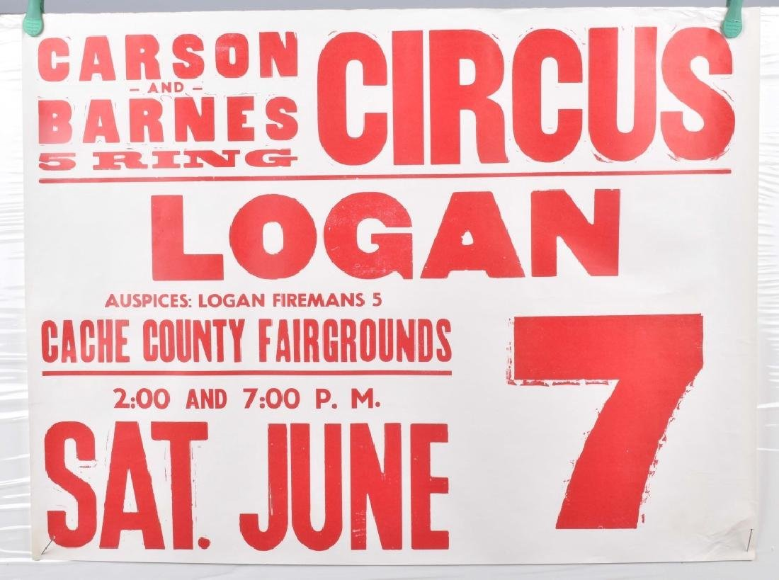 5-VINTAGE CIRCUS ADVERTISING POSTERS - 4