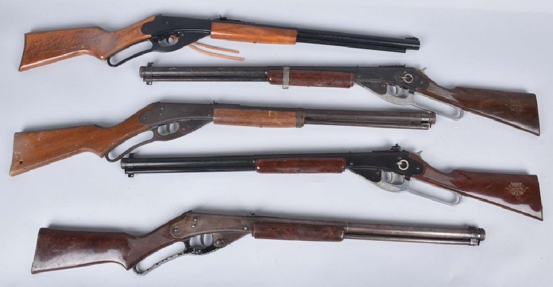 5-VINTAGE DAISY RED RYDER BB AIR RIFLES