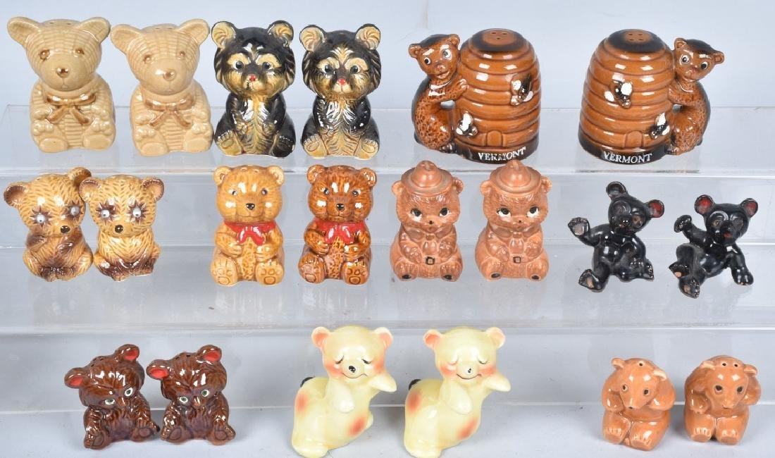 20-CERAMIC TEDDY BEAR and BEAR S & P SHAKERS