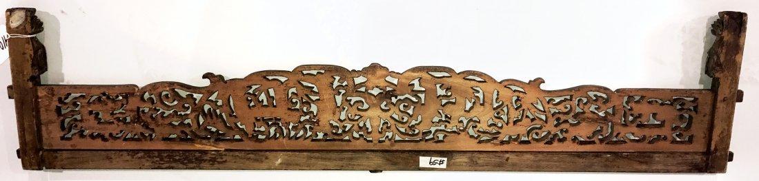 ORNATE WOOD CARVED CHINESE DOOR HEADER - 5
