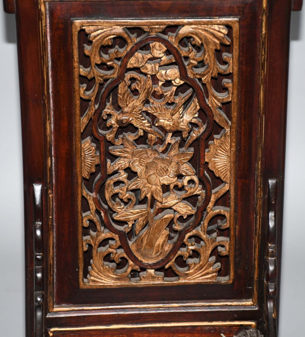 2- CHINESE CARVED WOOD FLOOR LAMPS - 6