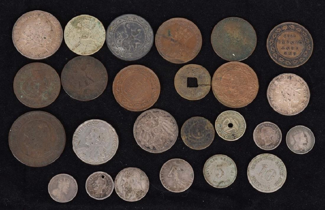 FOREIGN SILVER and COPPER COIN LOT