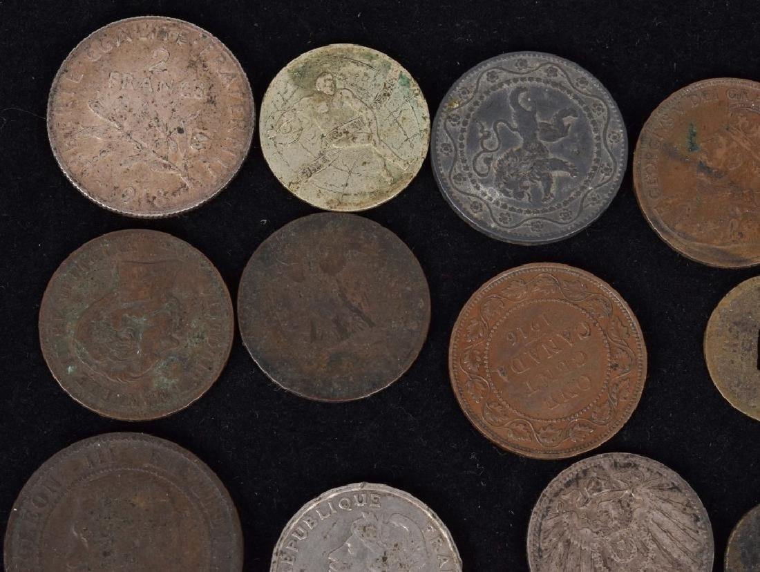 FOREIGN SILVER and COPPER COIN LOT - 2