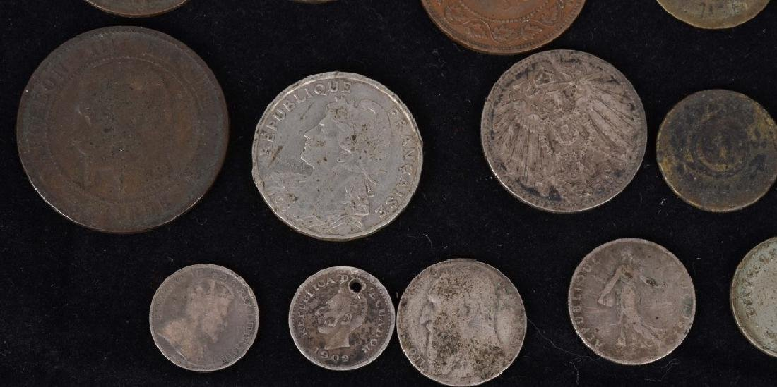 FOREIGN SILVER and COPPER COIN LOT - 3